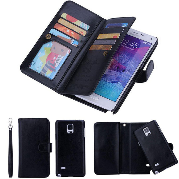 2 in 1 Magnetic Wallet Pu Leather Cases For Samsung Galaxy S10Plus S9Plus S8Plus 9 Card Slot Removable Magnetic case