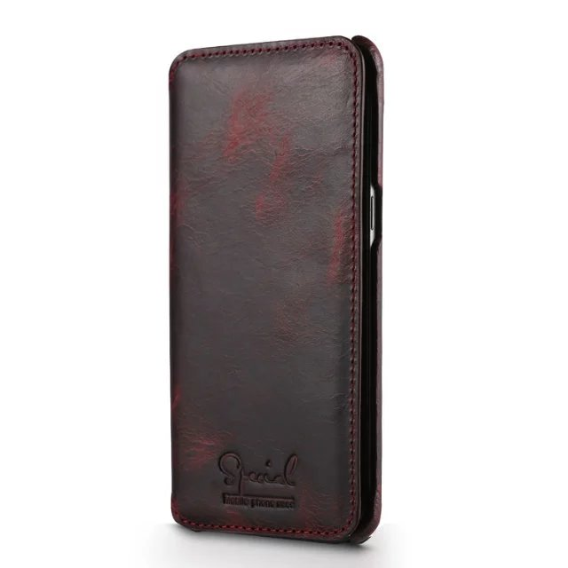 Luxury Genuine Leather Vintage Flip Case For Samsung Galaxy S8 S8 Plus Cover Real Cow Leather Case For Samsung S8 Phone Wallet