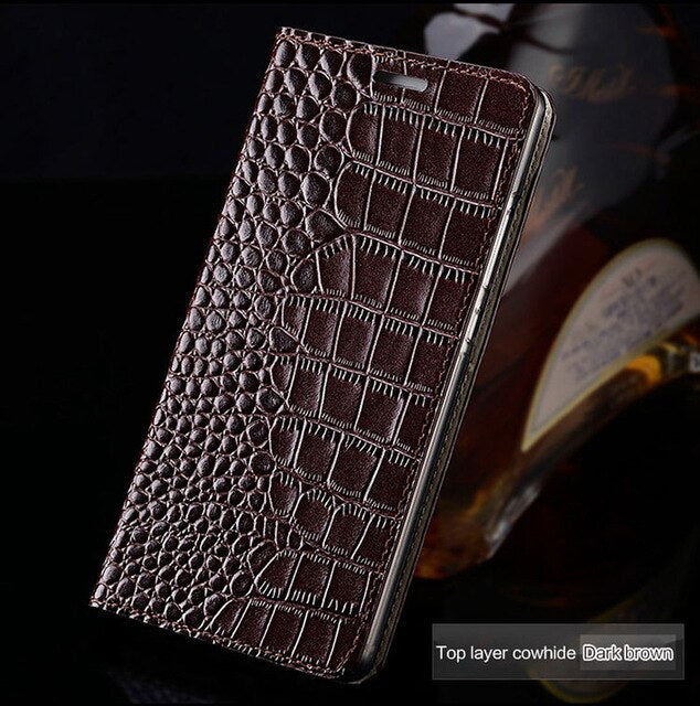 Genuine leather Flip Case For Samsung Galaxy S20 Ultra a50 a70 a30 a51 Note 10 9 8 s10 Plus s9 s7 s8 Crocodile grain Cover