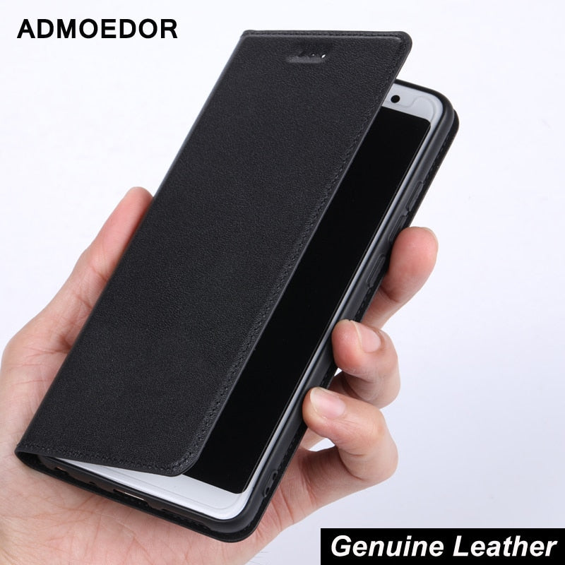 Genuine Leather Flip Case For xiaomi redmi note 5a 5 plus 6 7a 6a 8a 7 7s 8T k30 k20 8 pro Phone Magnetic Cover case