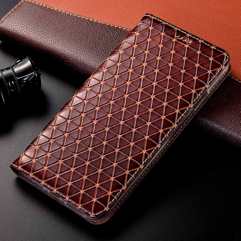 Magnet Natural Genuine Leather Skin Flip Wallet Book Phone Case Cover On For Xiaomi Redmi Note 5 6 7 Pro Note7 7Pro 32/64/128 GB