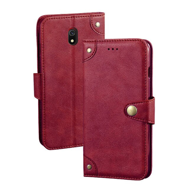 for Xiaomi Redmi 8A case flip cover MOFi original Redmi 8A shockproof pu leather shell capas luxury business anti-knock cases