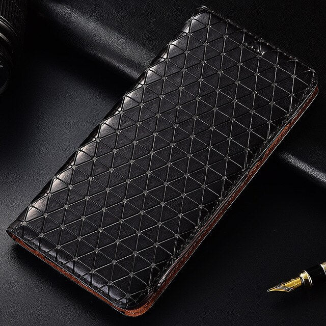 Top Genuine Leather Phone Cover Case For Xiaomi Mi Max 2 3 Max2 Max3 Flip Magnetic Bracket Card Bag Phone Case
