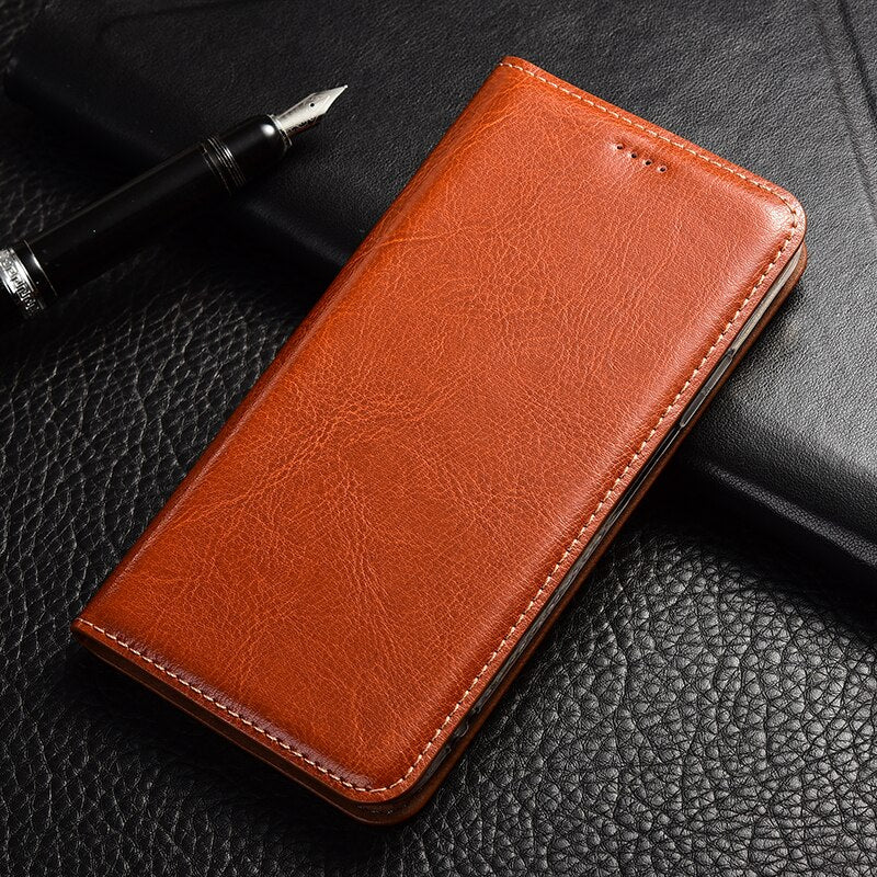Crazy horse Leather Phone Case For Xiaomi Mi 5 5c 5X 5S 6 6X 8 9 Plus SE A2 A1 A3 CC9e Lite Explorer Flip stand Cover bags