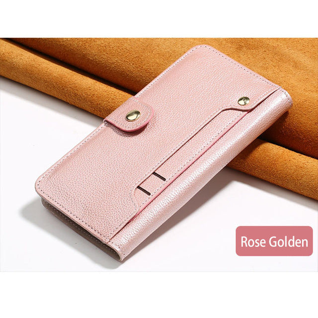 Phone case For Xiaomi Pocophone F1 Mi 5s 6 8 A1 A2 Max 2 3 Mix 2 2S PU Women Purse For Redmi Note 4A 4X 4 Pro 5 Plus Wallet Bag