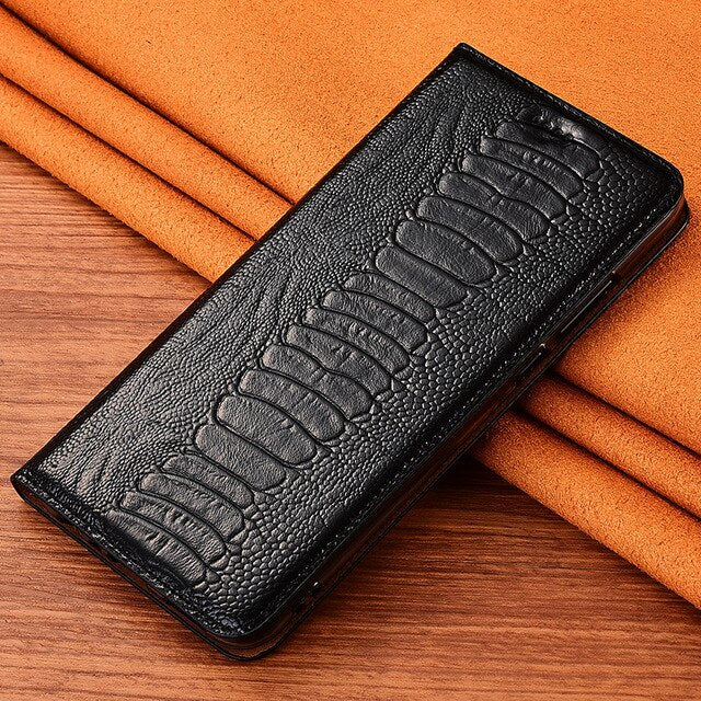 Top Genuine Cow Leather Magnetic Case For Nokia 5 6 2018 7 Plus 8 Sirocco Stand Flip Retro Phone Case Cover