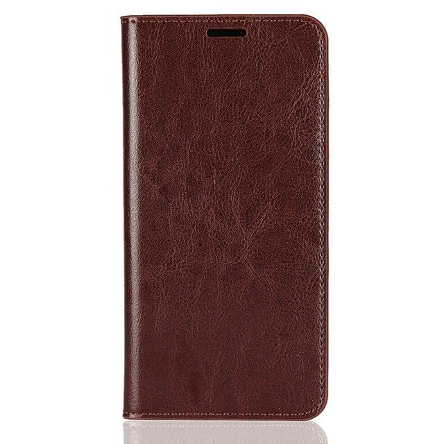 For Moto E6 Plus Case Luxury Flip Genuine Leather Phone Cove Fundas Para Coque Capa For Moto E6 Plus