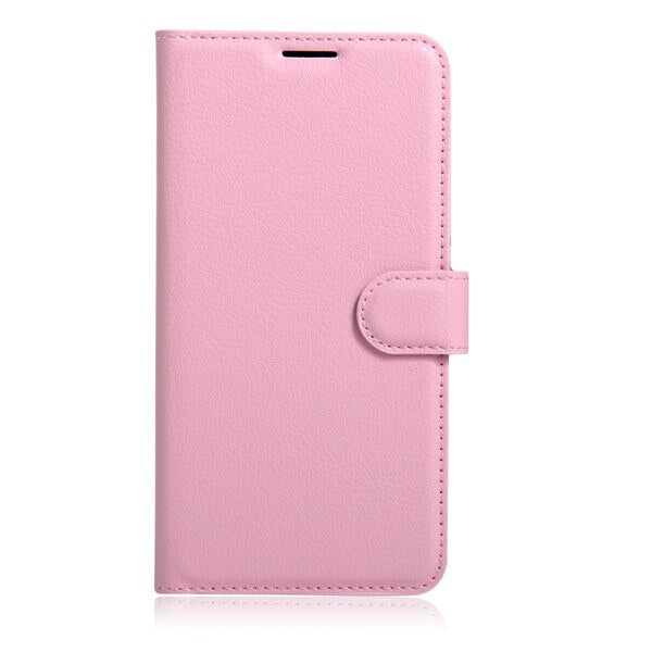 10pcs/lot Litchi Pattern Flip Magnetic PU Leather Wallet Phone Case For Motorola Moto E5 Plus Brazil EU Version Lychee grain