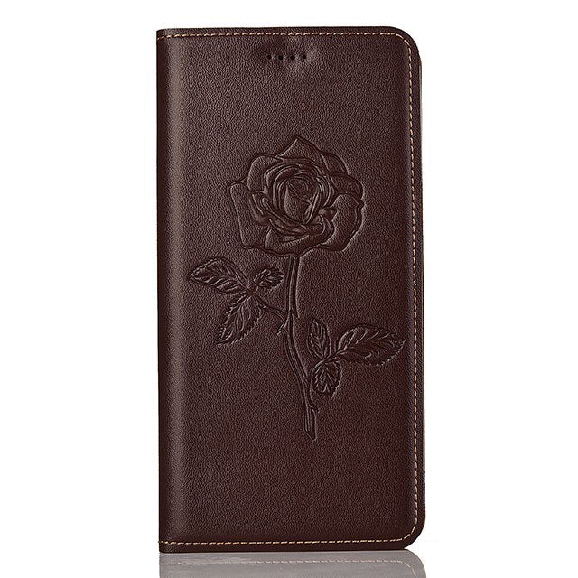 for Motorola Moto Z2 Force case Flip embossed genuine leather soft TPU back cover for Moto Z2 Force coque