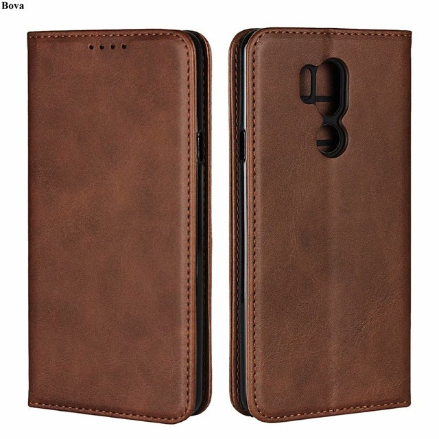 Leather case For LG G7 ThinQ for LG G7 Flip case card holder Holster Magnetic attraction Cover Wallet Case Coque