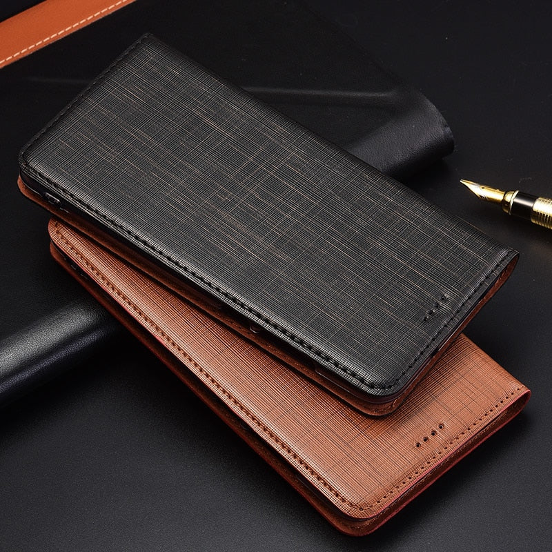 Genuine Leather Handmade Flip Case For LG Q6 Mini Q7 G6 G7 G8 G8S ThinQ Stand Magnetic Phone Cover Bag