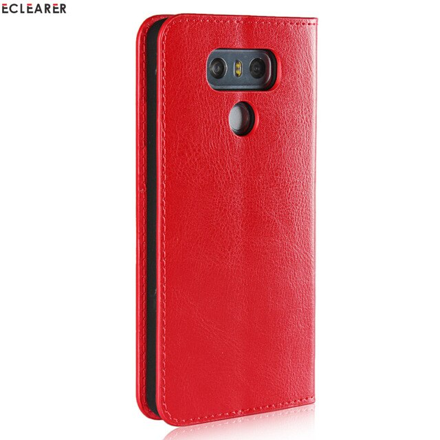 ECLEARER Wallet Case For LG V30/ G6/ G5 Genuine Leather Case Vintage Stand Card Slots Flip Case For For LG G6 Phone Cover Coque