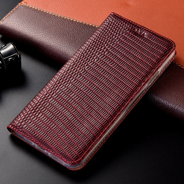 Lizard pattern Genuine Leather Case HTC One m10 A9S U U11 U12 Desire 12 12S 19 U19e Play Ultra Plus Life Eyes Flip Phone Cover