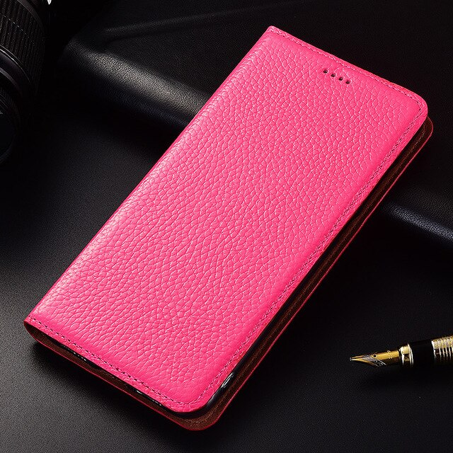 Flip Stand Litchi Genuine Leather Case For HTC Desire 826 D826 828 830 Cover Mobile Phone Case