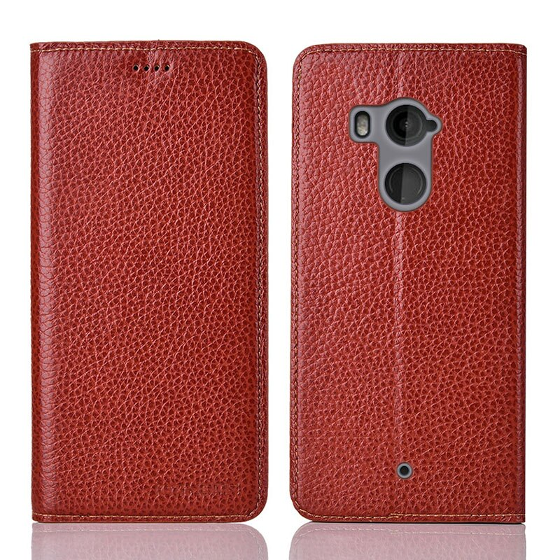 for HTC U11 plus Case Flip Genuine Leather Soft Silicon Back Cover for HTC U11 plus Coque