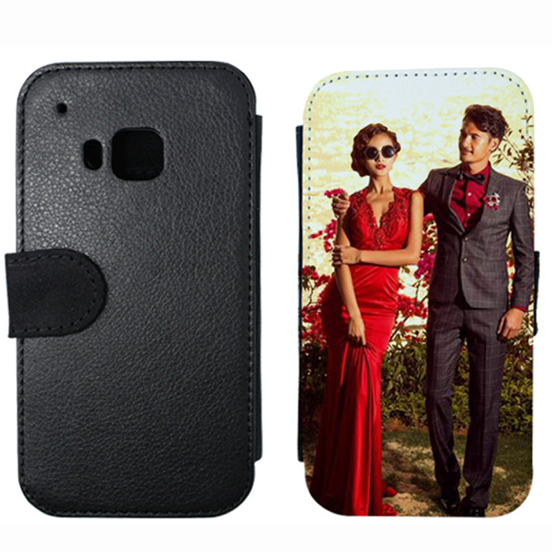 customized  leather flip phone case cover for  HTC one S X M7 M8 mini M9 sublimation leather case custoim for HTC desire 816 626
