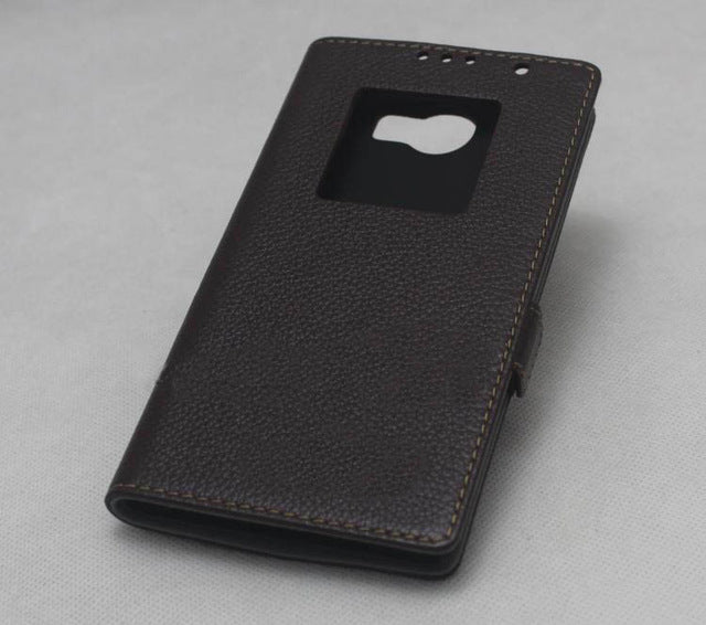 100% Genuine Original Patent design Business Style For Blackberry Priv leather phone case for blackberry flip cover case