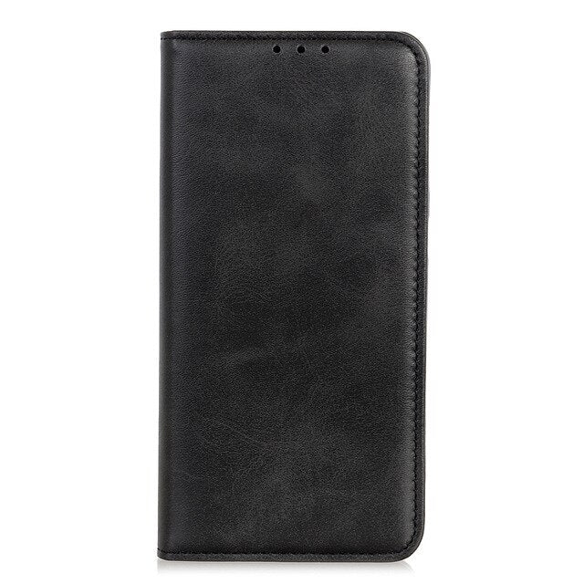 Phone Case for OPPO Realme X2 Pro Case Cover Luxury Cowhide Leather Magnetic Filp Card Slot Book Case for OPPO Realme X2 Pro XT