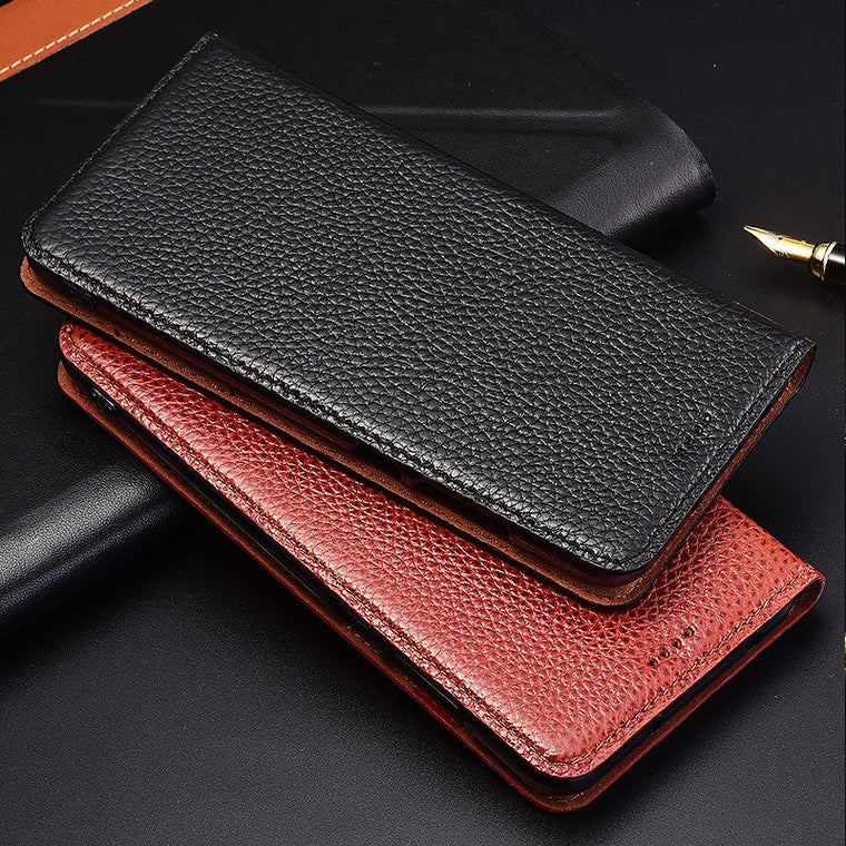Flip Stand Litchi Genuine Leather Case For ZTE Nubia M2 N1 N2 N3 Lite Cover Mobile Phone Case