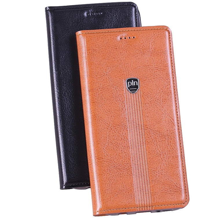 Hot ! ! !  Fashion For ZTE Nubia Z11 Mini S Genuine Leather Case Stand Flip Magnetic Mobile Phone Cover + Free Gifts