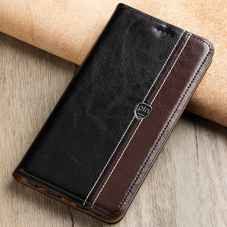 Fashion Stitching Color Cover Case For ZTE Nubia Z11 Case Flip Stand Magnetic Genuine Leather Phone Cover Bag