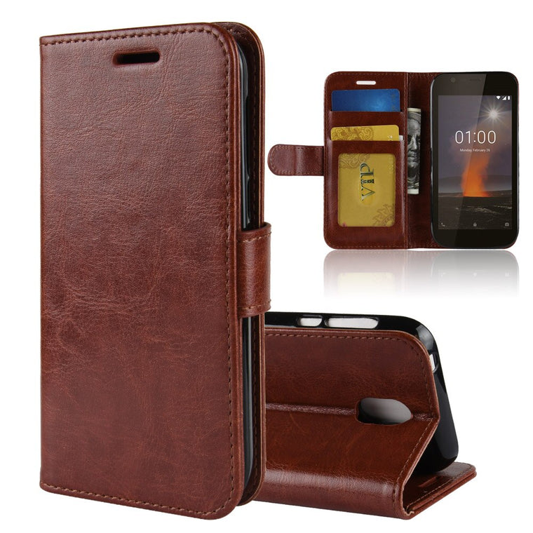 10pcs/lot crazy horse Wallet Leather cover Case For Nokia 7.1 6.1 6 2018 2.1 2V 3.1 5.1 X6 X5 8 Sriocco plus 9 PureView 1