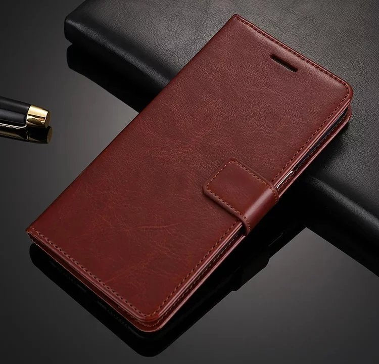 10pcs/lot free shipping For Nokia 7.1 Crazy Horse Wallet Leather Case Photo Frame Cover For Nokia X6 6.1 6 2018 7PLUS 8 Sriocco