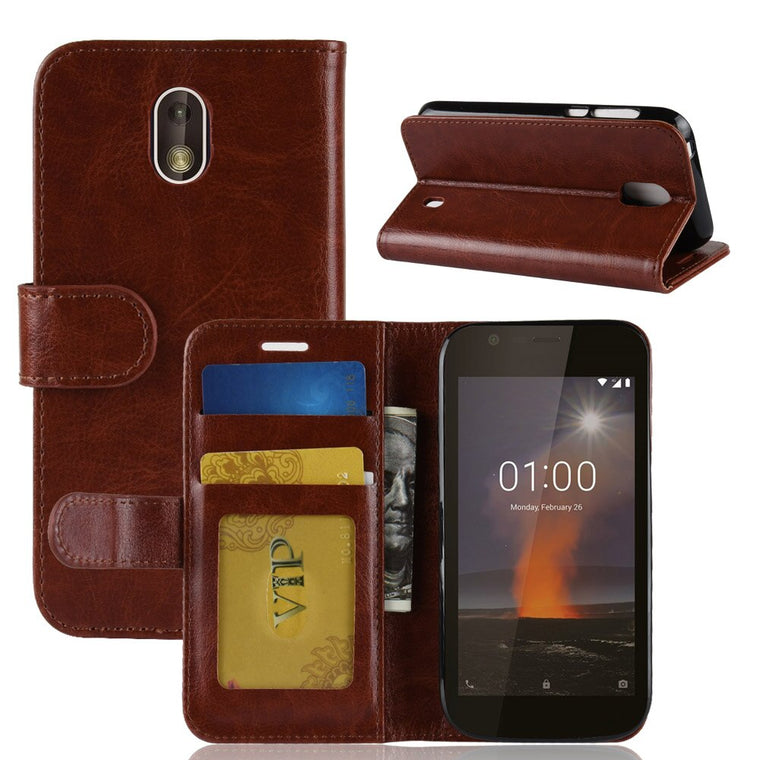 100pcs/lot crazy horse Wallet Leather cover Case For Nokia 7.1 6.1 6 2018 2.1 2V 3.1 5.1 X6 X5 8 Sriocco plus 9 PureView 1