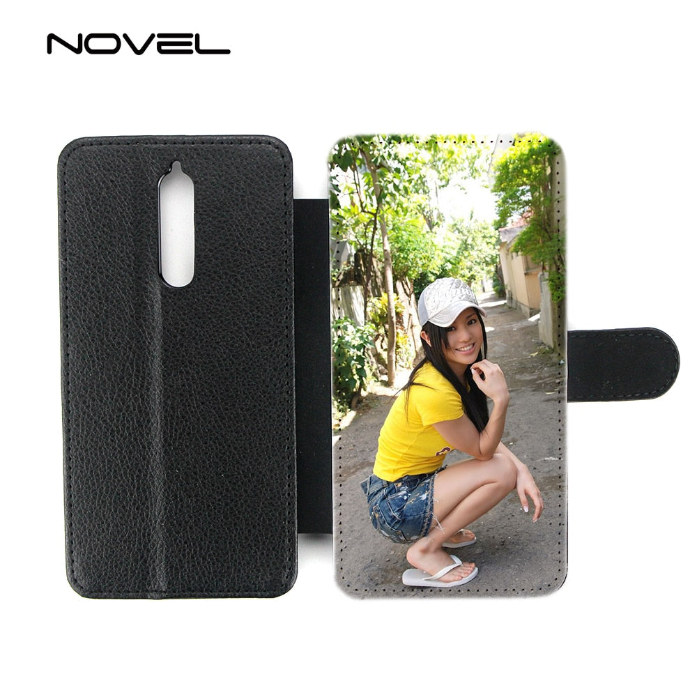factory price!!! flip Sublimation leather phone case for nokia 8