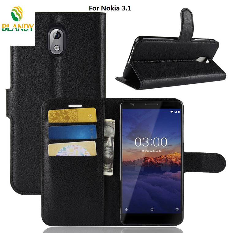100pcs/lot case For Nokia 7.1 6.1 6 2018 2.1 2V 3.1 5.1 litchi Lychee Wallet Leather cover Case For Nokia X6 X5 8 Sriocco 5 3