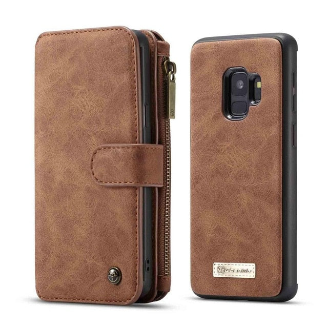 For Galaxy S9 Plus Wallet Case Detachable Folio Magnetic Leather Cover Case for Samsung Galaxy S20 S10 s9 Note 10 Plus S8 Note 9