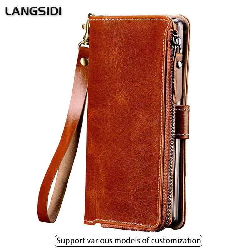 Multi-functional Zipper Case For Xiaomi Redmi note 7 Wallet Stand Holder Silicone Protect Bag Cover For xiaomi mi a2 lite case