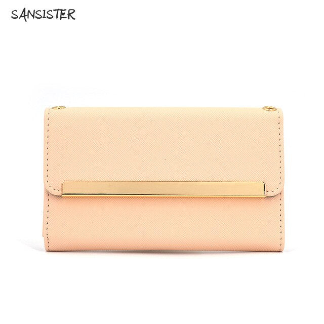 Sansister Saffiano cute  bag  for iPhone 11 adorable and sweet color with mirror cardholder everywhere can make up and shopping
