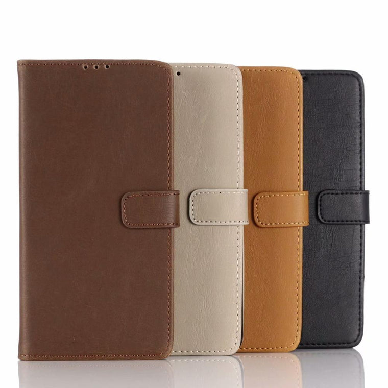 30pcs/lot Stand Card Slot Vintage Crazy Horse Book Style Wallet Retro Leather Case For Samsung Galaxy A7 A30 SCV43 Japan Version