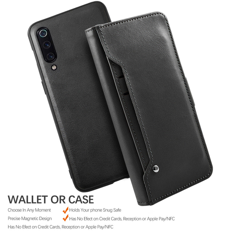 For Xiaomi Mi 9 SE Mi 9 Mi 9T Case Detachable PU Leather Flip Stand Magnetic Wallet Case For Xiaomi Mi9 SE Case Card Slot Holder