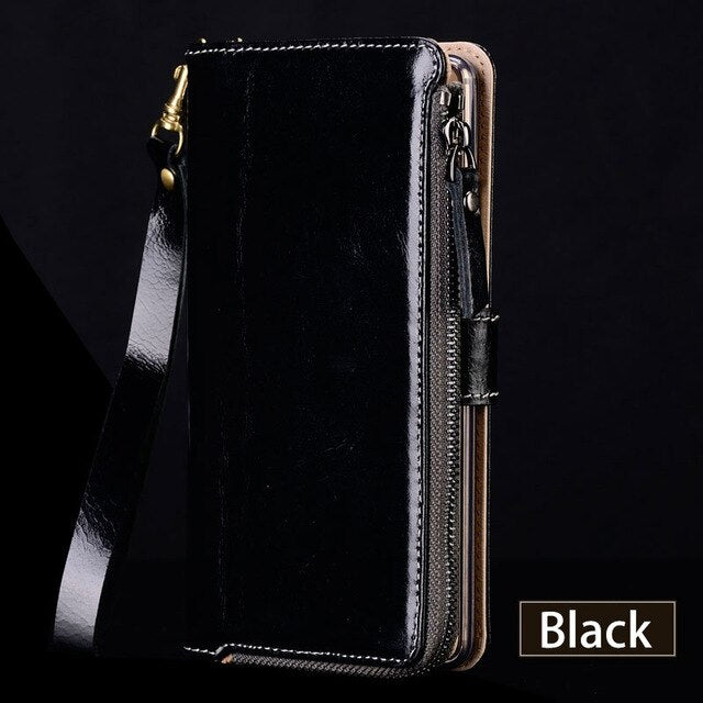 Genuine Leather Case For Xiaomi Mi 10 9 9t pro 8 lite A3 a2 Wallet Stand Holder Bag for Redmi Note 8 pro 4x 7A 5plus note 7 8T