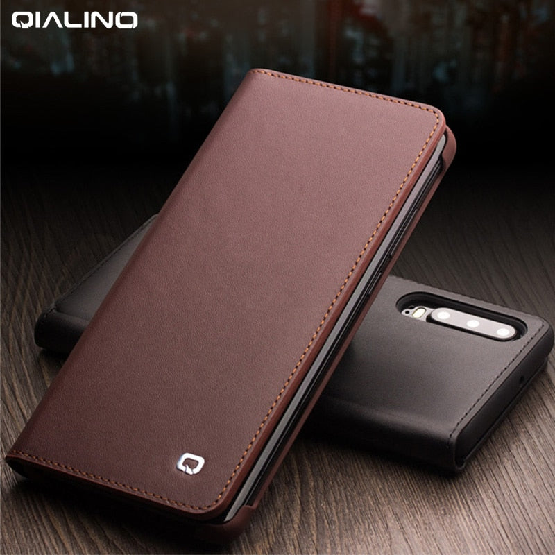 Handmade Genuine Leather Case For Huawei P30 Pro VOG-L09 VOG-L29 Case Wallet Card Slot Bag Flip Cover For Huawei P30Pro Cover