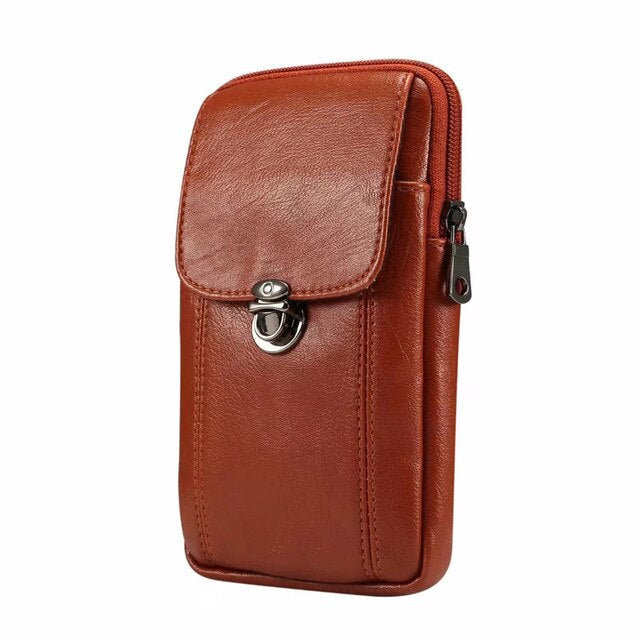 "FULAIKATE 6.5"" Fine Litchi Waist Bag for iPhone XR XS MAX 7Plus Men's Business Universal Pouch for Samsung Note8 A8 Star C9 Case"