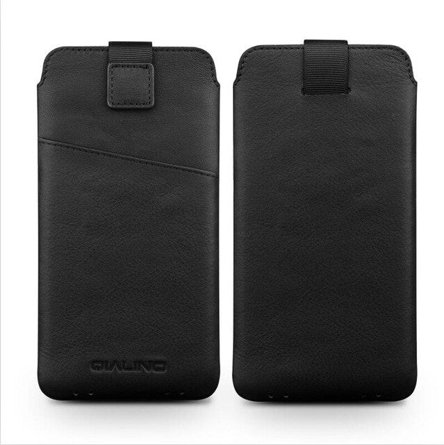 QIALINO Case for iPhone 7 fashion pure handmade cover for iPhone 7 plus Genuine Leather Card Slot Ultra Thin Pouch 4.7/5.5