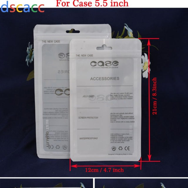 DSCACC non-stick nonstick PP Retail Package Packaging Bag for Apple iPhone Samsung Huawei LG Sony Xiaomi 4.7 5.5 6 inch TPU Case