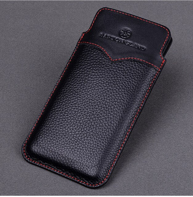 Note 9 Genuine Leather Fitted Pull Tab Slide In Case Cover ForSamsung NOte 9 Real Leather Shockproof Flip Cover Note9