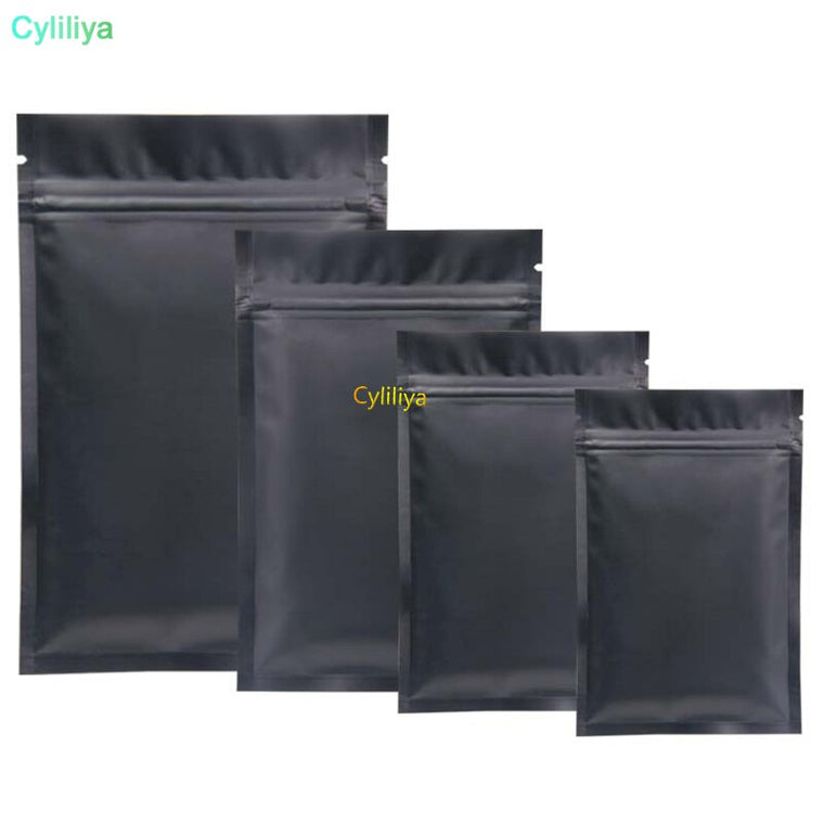 1000pcs Black Mylar Bags Aluminum Foil Zipper Bag for Long Term food storage and collectibles protection two side colored
