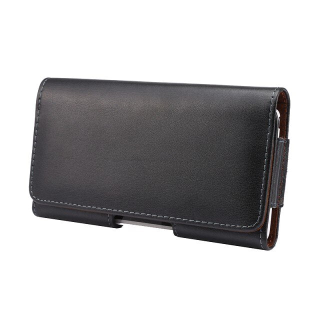 Luxury Genuine Leather Men Waist Bag Clip Belt Pouch Mobile Phone Holster cover Case For HTC ONE 2 M8