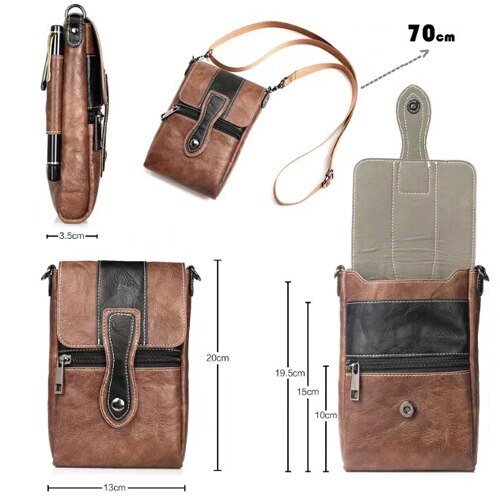 Holster Man Shoulder Belt Clip Mobile Phone Leather Case For HTC One X10/X9/E9s/E9+/M9 PLUS,Butterfly 3,Oneplus Two,Oneplus 3/3t