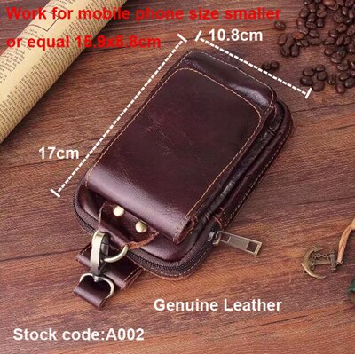 Belt Clip Man Genuine Cow Leather Mobile Phone Case Pouch For  HTC U11/U Play,One X10/X9/A9S/M10/E9S/M9S/A9 A9W Aero/M8s/E9+/M9+