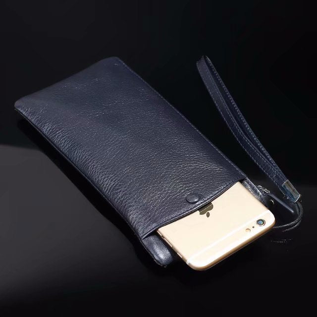 Genuine Cow Leather Hand Strap Mobile Phone Pouch Case Bags For Lenovo K320t/Z5/S5/K5/K5 Play/K8 Plus/K8 Note/P2/K6 Note/A7000