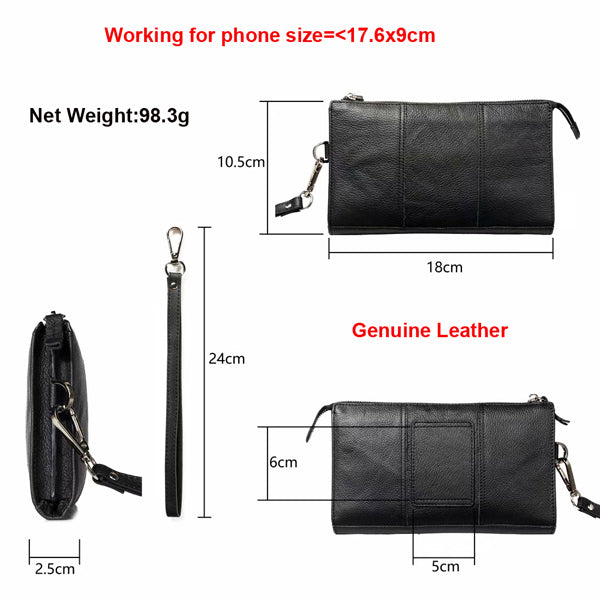 Hand Strap Waist Belt Genuine Leather Phone Case For OPPO Find X Reno 10X Zoom Reno 5G A9 A9X A1K F11 RX17 R15  F9 Pro F5 youth