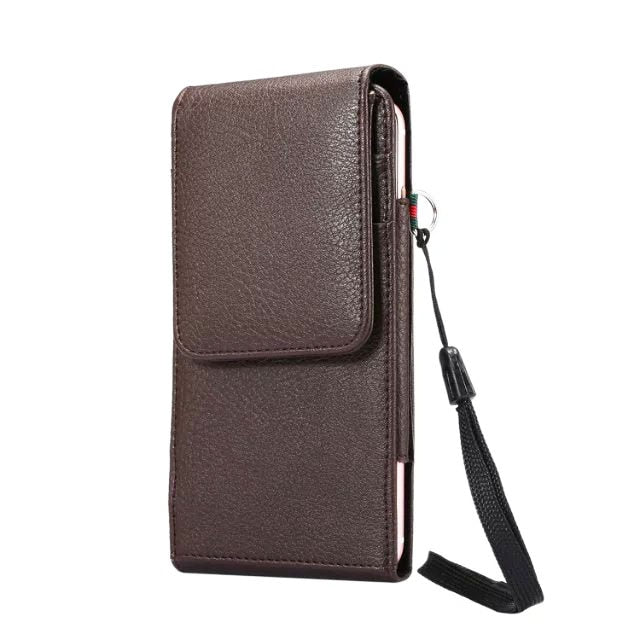 Verticial Rotary Man Belt Clip Strap Leather Mobile Phone Case Card Pouch For ZTE Blade A610 V7 Max,Axon 7 mini,nubia Z11 mini S