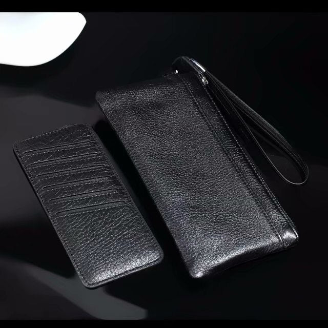 Genuine Cow Leather Hand Strap Mobile Phone Pouch Case Bags For BlackBerry KEY2,Doogee S50/Mix 2/X30L/BL5000,Oppo,Vivo,Wileyfox