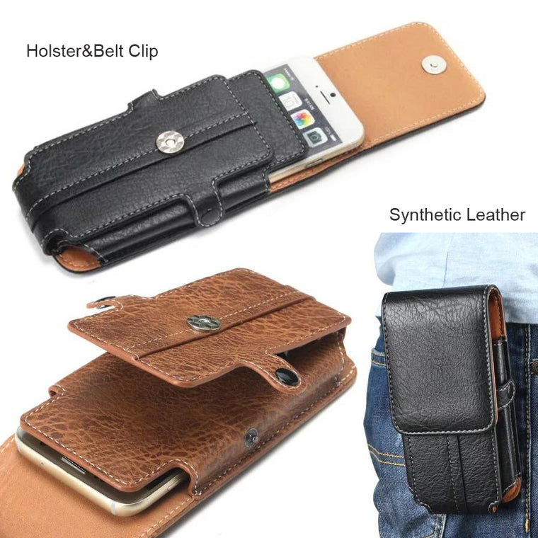 PU Leather Waist Belt Clip Hook Loop Phone Case For LG V50 ThinQ 5G,OPPO Realme 1 3 2 Pro U1 C2 C1 (2019),Doogee N10 Y8 Y7 Plus